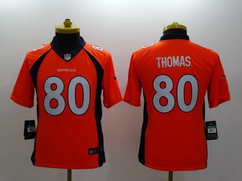 Nike Denver Broncos #80 Julius Thomas 2013 Orange Limited Kids Jersey