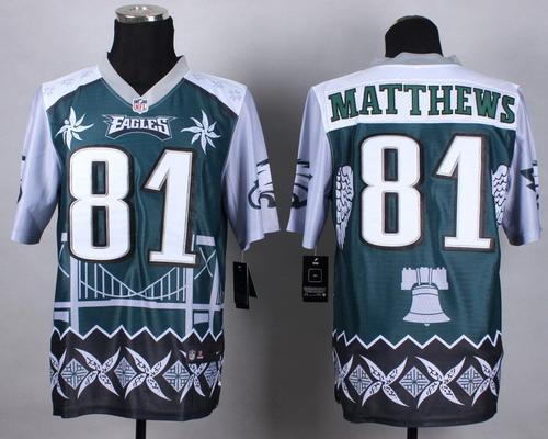 Nike Philadelphia Eagles #81 Jordan Matthews 2015 Noble Fashion Elite Jersey