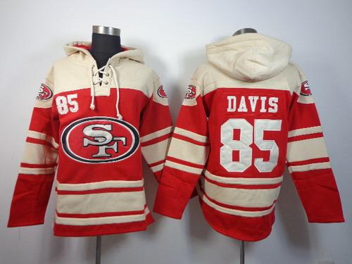 San Francisco 49ers #85 Vernon Davis 2014 Red Hoodie