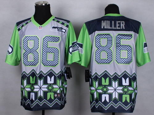 Nike Seattle Seahawks #86 Zach Miller 2015 Noble Fashion Elite Jersey