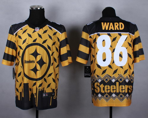 Nike Pittsburgh Steelers #86 Hines Ward 2015 Noble Fashion Elite Jersey