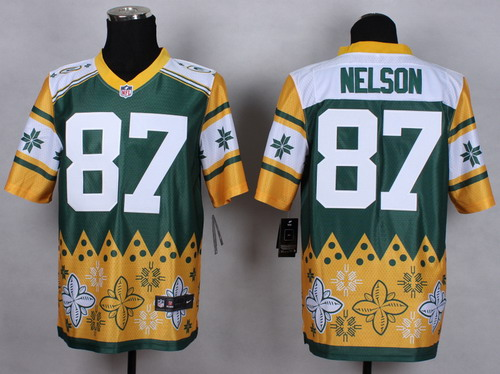 Nike Green Bay Packers #87 Jordy Nelson 2015 Noble Fashion Elite Jersey