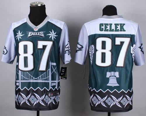 Nike Philadelphia Eagles #87 Brent Celek 2015 Noble Fashion Elite Jersey