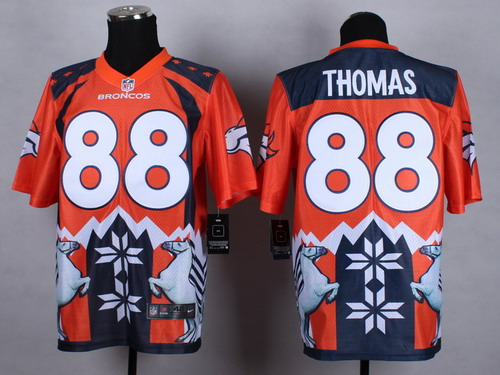 Nike Denver Broncos #88 Demaryius Thomas 2015 Noble Fashion Elite Jersey