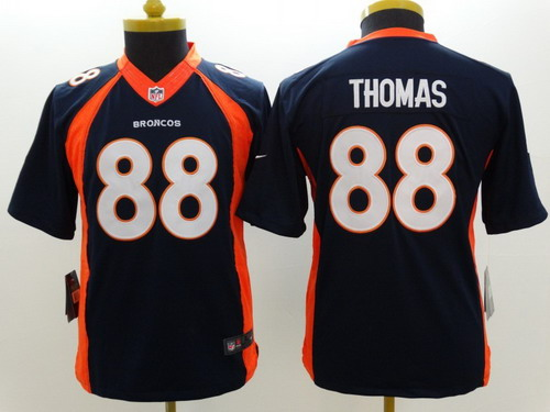 Nike Denver Broncos #88 Demaryius Thomas 2013 Blue Limited Kids Jersey