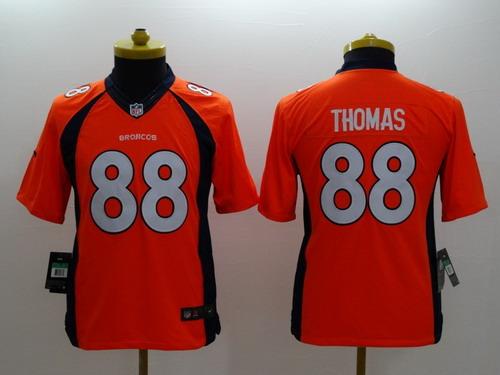 Nike Denver Broncos #88 Demaryius Thomas 2013 Orange Limited Kids Jersey