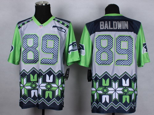 Nike Seattle Seahawks #89 Doug Baldwin 2015 Noble Fashion Elite Jersey