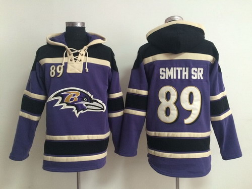 Baltimore Ravens #89 Steve Smith Sr 2014 Purple Hoodie