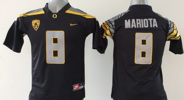 Oregon Duck #8 Marcus Mariota 2014 Black Limited Jersey