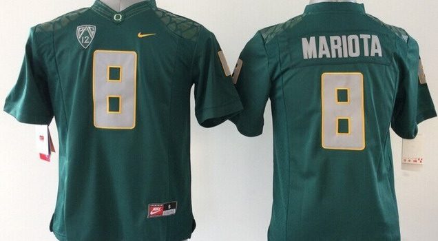 Oregon Ducks #8 Marcus Mariota 2014 Dark Green Limited Jersey