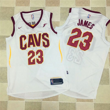 Nike NBA Cleveland Cavaliers #23 LeBron James Jersey 2017-18 New Season White Jersey