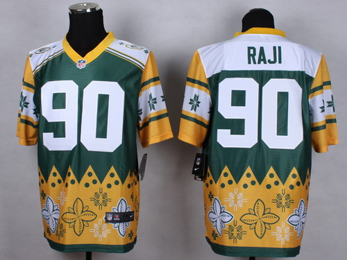 Nike Green Bay Packers #90 B.J. Raji 2015 Noble Fashion Elite Jersey