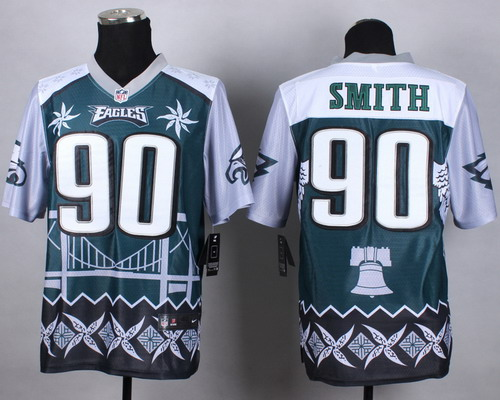 Nike Philadelphia Eagles #90 Marcus Smith 2015 Noble Fashion Elite Jersey