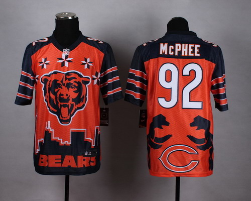 Nike Chicago Bears #92 Pernell McPhee 2015 Noble Fashion Elite Jersey