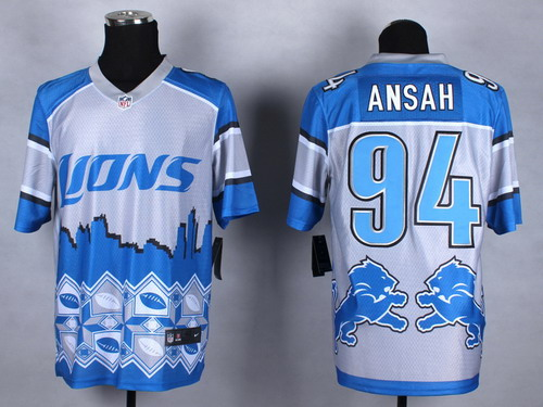 Nike Detroit Lions #94 Ezekiel Ansah 2015 Noble Fashion Elite Jersey