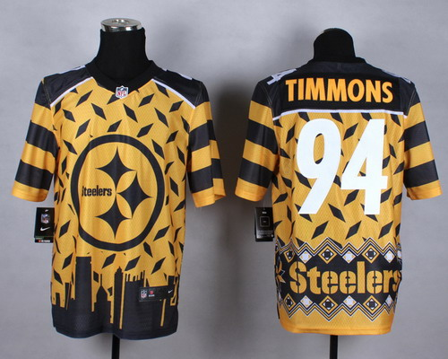 Nike Pittsburgh Steelers #94 Lawrence Timmons 2015 Noble Fashion Elite Jersey