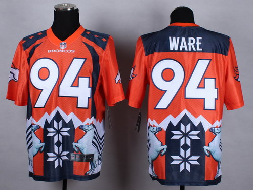 Nike Denver Broncos #94 DeMarcus Ware 2015 Noble Fashion Elite Jersey