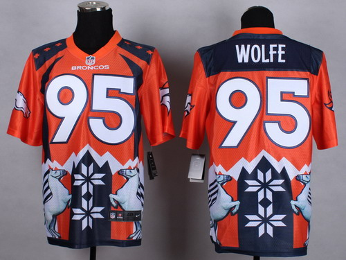 Nike Denver Broncos #95 Derek Wolfe 2015 Noble Fashion Elite Jersey