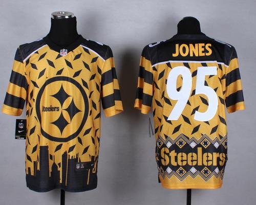 Nike Pittsburgh Steelers #95 Jarvis Jones 2015 Noble Fashion Elite Jersey