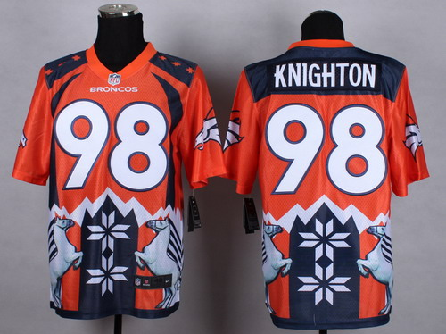 Nike Denver Broncos #98 Terrance Knighton 2015 Noble Fashion Elite Jersey