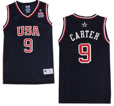 2000 Olympics Team USA #9 Vince Carter Navy Blue Swingman Jersey