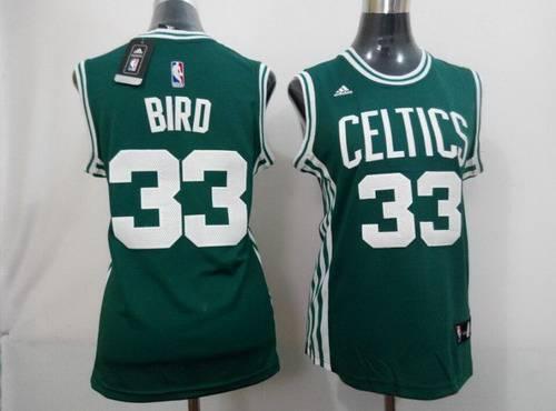 Boston Celtics #33 Larry Bird 2014 New Green Women's jersey