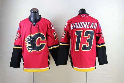 Calgary Flames #13 Johnny Gaudreau Red Jersey