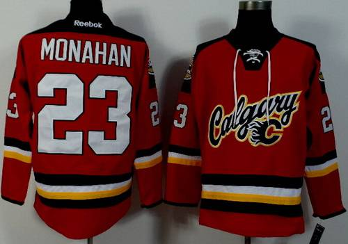 Calgary Flames #23 Sean Monahan 2014 Red Jersey