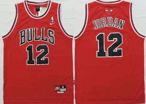 Chicago Bulls #12 Michael Jordan Red Swingman Jersey