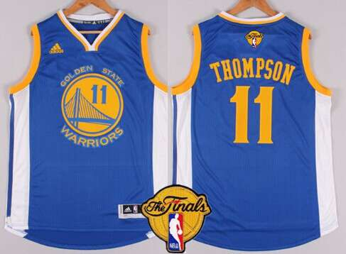 Golden State Warriors #11 Klay Thompson 2015 The Finals New Blue Jersey