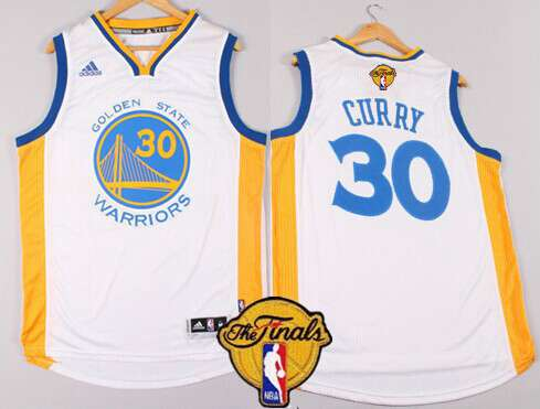 Golden State Warriors #30 Stephen Curry 2015 The Finals New White Jersey