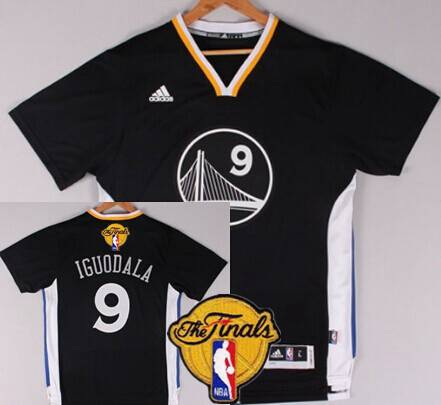 Golden State Warriors #9 Andre Iguodala 2015 The Finals New Black Short-Sleeved Jersey