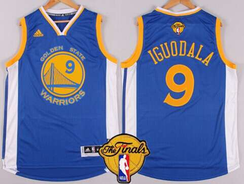 Golden State Warriors #9 Andre Iguodala 2015 The Finals New Blue Jersey