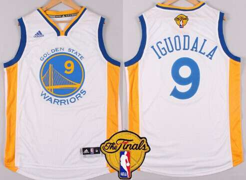 Golden State Warriors #9 Andre Iguodala 2015 The Finals New White Jersey