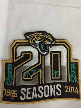 Jacksonville Jaguars 20th Anniversary Patch