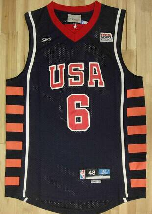 Men's 2004 Olympics Team USA #6 Tracy McGrady Navy Blue Swingman Jersey
