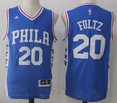 Men's 2017 Draft Philadelphia 76ers #20 Markelle Fultz Blue Stitched NBA adidas Revolution 30 Swingman Jersey