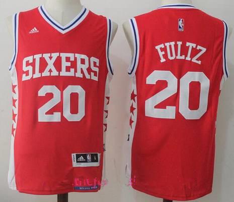 Men's 2017 Draft Philadelphia 76ers #20 Markelle Fultz Red Stitched NBA adidas Revolution 30 Swingman Jersey