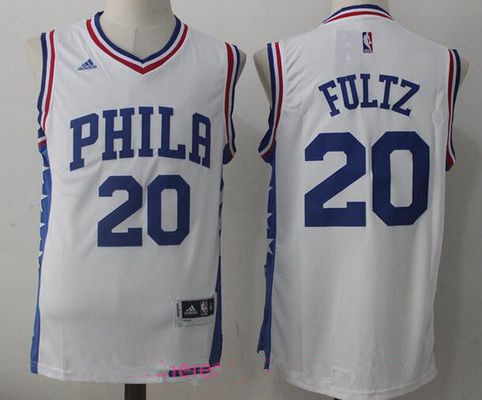 Men's 2017 Draft Philadelphia 76ers #20 Markelle Fultz White Stitched NBA adidas Revolution 30 Swingman Jersey