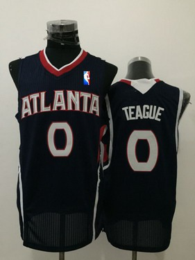 Men's Atlanta Hawks #0 Jeff Teague Navy Blue Swingman Jersey