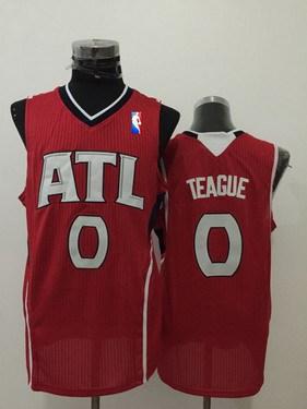 Men's Atlanta Hawks #0 Jeff Teague Red Swingman Jersey