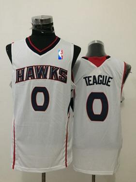 Men's Atlanta Hawks #0 Jeff Teague White Swingman Jersey