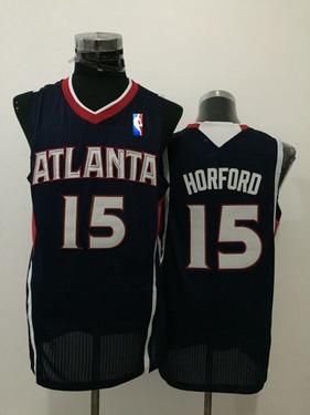 Men's Atlanta Hawks #15 Al Horford Navy Blue Swingman Jersey