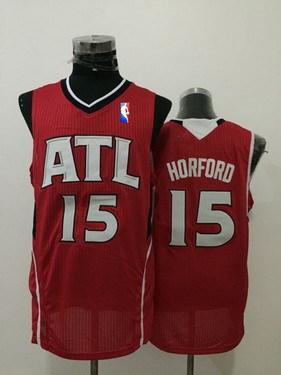 Men's Atlanta Hawks #15 Al Horford Red Swingman Jersey