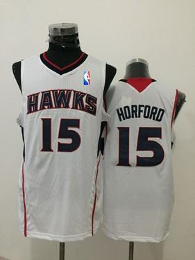 Men's Atlanta Hawks #15 Al Horford White Swingman Jersey