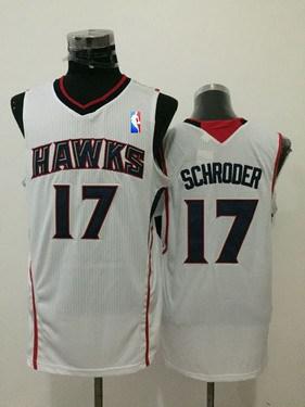 Men's Atlanta Hawks #17 Dennis Schroder White Swingman Jersey