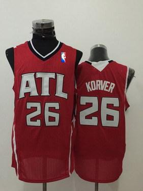 Men's Atlanta Hawks #26 Kyle Korver Red Swingman Jersey