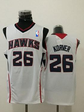 Men's Atlanta Hawks #26 Kyle Korver White Swingman Jersey