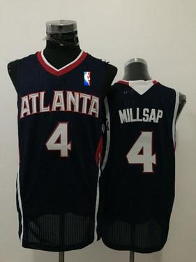Men's Atlanta Hawks #4 Paul Millsap Navy Blue Swingman Jersey