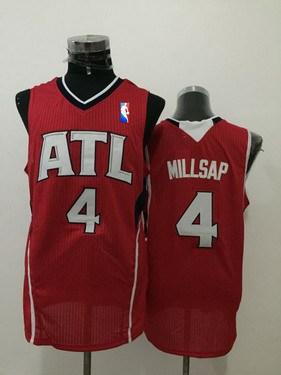 Men's Atlanta Hawks #4 Paul Millsap Red Swingman Jersey